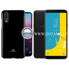 Mercury Jelly dėklas nugarėlė Samsung Galaxy J6 (2018) telefonui juodos spalvos