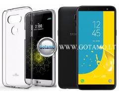 Mercury Jelly dėklas nugarėlė Samsung Galaxy J6 (2018) telefonui skaidrus