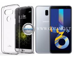 Mercury Jelly dėklas nugarėlė Samsung Galaxy J6+ (2018) telefonui skaidrus