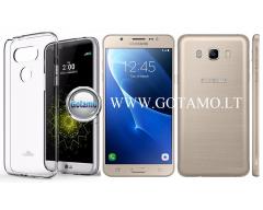 Mercury Jelly dėklas nugarėlė Samsung Galaxy J7 (2016) telefonui skaidrus
