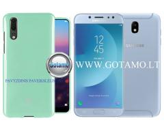 Mercury Jelly dėklas nugarėlė Samsung Galaxy J7 (2017) telefonui mėtinės spalvos