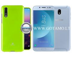 Mercury Jelly dėklas nugarėlė Samsung Galaxy J7 (2017) telefonui salotinės spalvos
