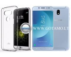 Mercury Jelly dėklas nugarėlė Samsung Galaxy J7 (2017) telefonui skaidrus