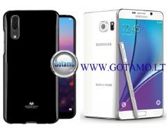 Mercury Jelly dėklas nugarėlė Samsung Galaxy Note 5 telefonui juodos spalvos