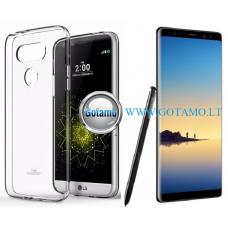 Mercury Jelly dėklas nugarėlė Samsung Galaxy Note 8 telefonui skaidrus