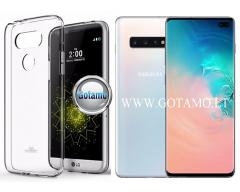 Mercury Jelly dėklas nugarėlė Samsung Galaxy S10+ telefonui skaidrus