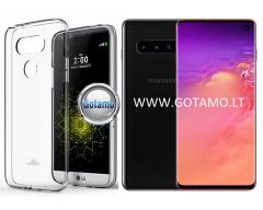 Mercury Jelly dėklas nugarėlė Samsung Galaxy S10 telefonui skaidrus