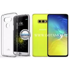 Mercury Jelly dėklas nugarėlė Samsung Galaxy S10e telefonui skaidrus