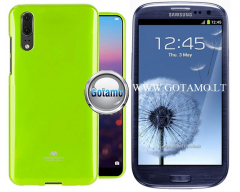 Mercury Jelly dėklas nugarėlė Samsung Galaxy S3 S3 Neo telefonui salotinės spalvos