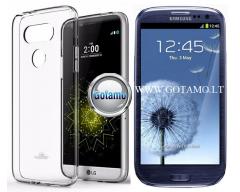 Mercury Jelly dėklas nugarėlė Samsung Galaxy S3 S3 Neo telefonui skaidrus