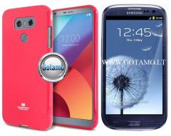 Mercury Jelly dėklas nugarėlė Samsung Galaxy S3 S3 Neo telefonui tamsiai rožinės spalvos