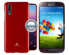 Mercury Jelly dėklas nugarėlė Samsung Galaxy S4 telefonui raudonos spalvos
