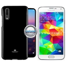 Mercury Jelly dėklas nugarėlė Samsung Galaxy S5 S5 Neo telefonui juodos spalvos