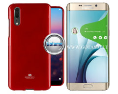 Mercury Jelly dėklas nugarėlė Samsung Galaxy S6 edge+ telefonui raudonos spalvos