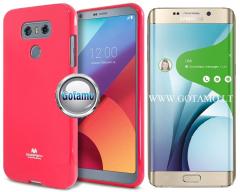 Mercury Jelly dėklas nugarėlė Samsung Galaxy S6 edge+ telefonui tamsiai rožinės spalvos