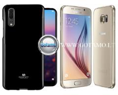 Mercury Jelly dėklas nugarėlė Samsung Galaxy S6 telefonui juodos spalvos