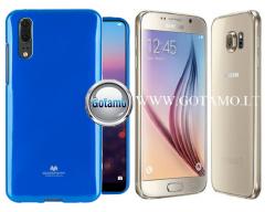 Mercury Jelly dėklas nugarėlė Samsung Galaxy S6 telefonui mėlynos spalvos