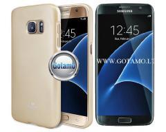 Mercury Jelly dėklas nugarėlė Samsung Galaxy S7 telefonui aukso spalvos