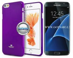 Mercury Jelly dėklas nugarėlė Samsung Galaxy S7 telefonui violetinės spalvos