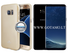 Mercury Jelly dėklas nugarėlė Samsung Galaxy S8+ telefonui aukso spalvos