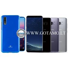 Mercury Jelly dėklas nugarėlė Samsung Galaxy S8 telefonui mėlynos spalvos