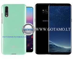 Mercury Jelly dėklas nugarėlė Samsung Galaxy S8+ telefonui mėtinės spalvos