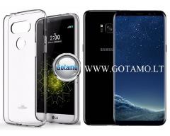 Mercury Jelly dėklas nugarėlė Samsung Galaxy S8+ telefonui skaidrus