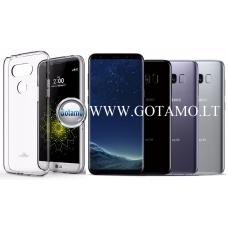 Mercury Jelly dėklas nugarėlė Samsung Galaxy S8 telefonui skaidrus