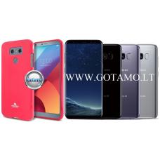 Mercury Jelly dėklas nugarėlė Samsung Galaxy S8 telefonui tamsiai rožinės spalvos