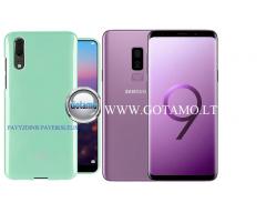 Mercury Jelly dėklas nugarėlė Samsung Galaxy S9+ telefonui mėtinės spalvos