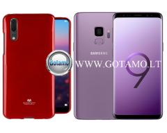 Mercury Jelly dėklas nugarėlė Samsung Galaxy S9+ telefonui raudonos spalvos