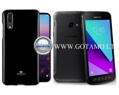 Mercury Jelly dėklas nugarėlė Samsung Galaxy Xcover 4 telefonui juodos spalvos