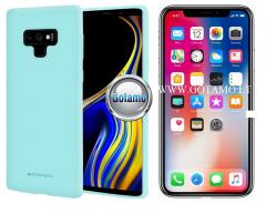 Mercury Soft Feeling dėklas nugarėlė Apple iPhone X Xs telefonui mėtinės spalvos