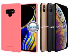 Mercury Soft Feeling dėklas nugarėlė Apple iPhone Xs Max telefonui rožinės spalvos