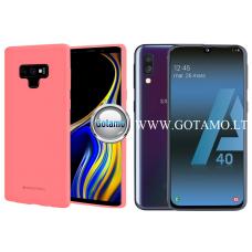 Mercury Soft Feeling dėklas nugarėlė Samsung Galaxy A40 telefonui rožinės spalvos Kaunas | Telšiai | Klaipėda