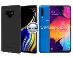 Mercury Soft Feeling dėklas nugarėlė Samsung Galaxy A50 telefonui juodos spalvos