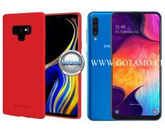 Mercury Soft Feeling dėklas nugarėlė Samsung Galaxy A50 telefonui raudonos spalvos