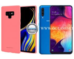 Mercury Soft Feeling dėklas nugarėlė Samsung Galaxy A50 telefonui rožinės spalvos
