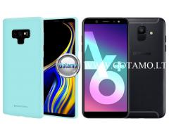 Mercury Soft Feeling dėklas nugarėlė Samsung Galaxy A6+ (2018) telefonui mėtinės spalvos