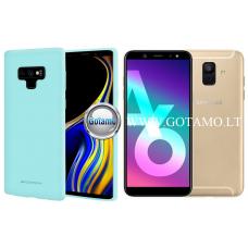Mercury Soft Feeling dėklas nugarėlė Samsung Galaxy A6 (2018) telefonui mėtinės spalvos Kaunas | Vilnius | Palanga