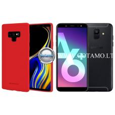 Mercury Soft Feeling dėklas nugarėlė Samsung Galaxy A6+ (2018) telefonui raudonos spalvos Plungė | Klaipėda | Klaipėda