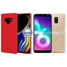 Mercury Soft Feeling dėklas nugarėlė Samsung Galaxy A6 (2018) telefonui raudonos spalvos Šiauliai | Klaipėda | Plungė