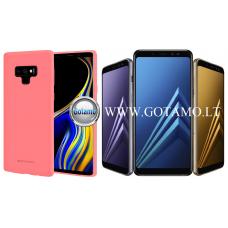 Mercury Soft Feeling dėklas nugarėlė Samsung Galaxy A8 (2018) telefonui rožinės spalvos Kaunas | Kaunas | Kaunas