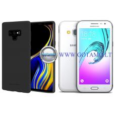Mercury Soft Feeling dėklas nugarėlė Samsung Galaxy J3 (2016) telefonui juodos spalvos