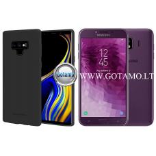 Mercury Soft Feeling dėklas nugarėlė Samsung Galaxy J4 (2018) telefonui juodos spalvos