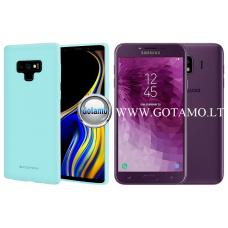 Mercury Soft Feeling dėklas nugarėlė Samsung Galaxy J4 (2018) telefonui mėtinės spalvos