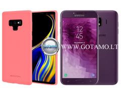 Mercury Soft Feeling dėklas nugarėlė Samsung Galaxy J4 (2018) telefonui rožinės spalvos