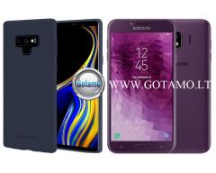 Mercury Soft Feeling dėklas nugarėlė Samsung Galaxy J4 (2018) telefonui tamsiai mėlynos spalvos
