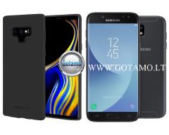 Mercury Soft Feeling dėklas nugarėlė Samsung Galaxy J5 (2017) telefonui juodos spalvos