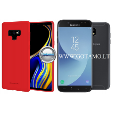 Mercury Soft Feeling dėklas nugarėlė Samsung Galaxy J5 (2017) telefonui raudonos spalvos Klaipėda | Kaunas | Kaunas